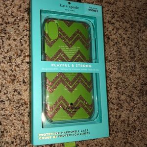 Kate Spade Sparkly Chevron iPhone X Case